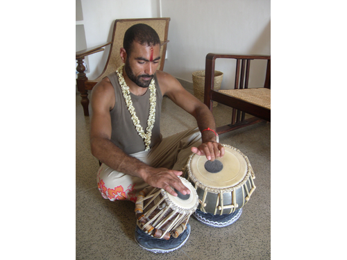 Apprentissage des tablas, Pondicherry - 2005